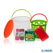 《機車族推薦》自助洗車6件組(顏色隨機)水管置放孔 自助洗車 置物收納(洗車桶6件組)