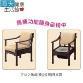 《海夫健康生活館》日華 安壽 便盆椅 隱藏式木製馬桶椅 日本製(T0821)