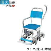 《預購 海夫健康生活館》日華 uchie 12輪洗澡椅 行動/日本製(S0539)(SW-6060 O型有孔)