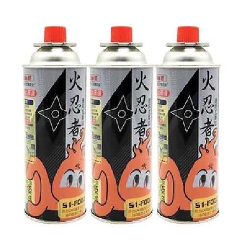 《火忍者》雙安控卡式瓦斯罐 S1-F002(3入/組)