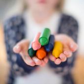 純天然蜂蠟無毒蠟筆-幼童適用(3歲+)胖長款(共6色)