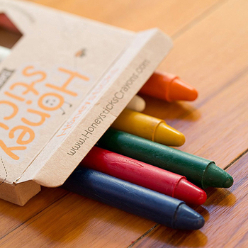 《Honey Sticks》純天然蜂蠟無毒蠟筆-學童適用(6歲+)細長款(共8色)