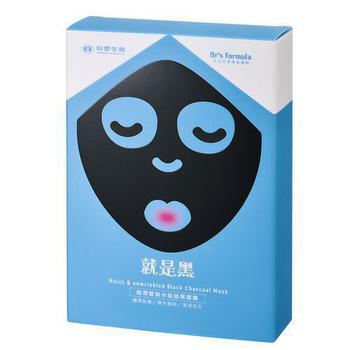 《台塑生醫Dr's Formula》極潤緊俏水娃娃黑面膜(7片/盒)