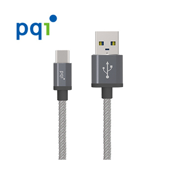 《PQI》PQI C-Cable Type C to A 100cm 金屬編織線