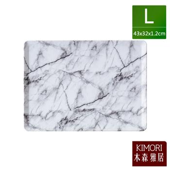 《木森雅居》KIMORI simple 45度止滑置物盤/餐盤 L(大理石紋)