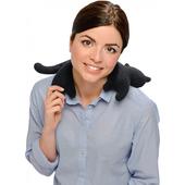 《德國 Leschi》舒緩肩頸熱敷/冷敷袋-貓造型(黑色)