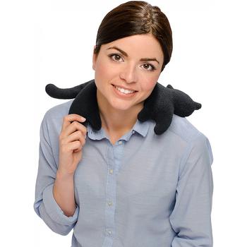 《德國 Leschi》舒緩肩頸熱敷/冷敷袋-貓造型(黑色)送:防磨貼鞋墊×1包 (市價$280)