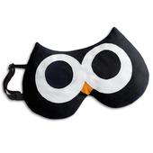 《德國 Leschi》舒緩疲勞熱敷/冷敷眼罩- 貓頭鷹造型 (黑色)