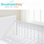 《英國 BreathableBaby》Airflow透氣嬰兒床圍(兩側型 -28323輕柔飄羽)