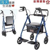 《海夫健康生活館》必翔 助行車 兩用型/自助介護/扶手可調高/可折疊(YK-7080)
