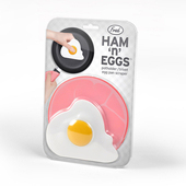 《美國 Fred》Ham n Eggs 把手隔熱墊(火腿造型) + 刮鍋巴器(蛋造型)