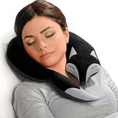 《德國 Leschi》旅行枕頭/辦公室、教室午休枕頭- 狐狸造型 (黑色)