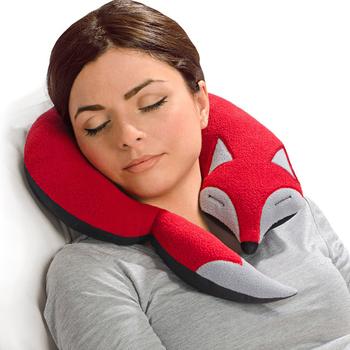 《德國 Leschi》旅行枕頭/辦公室、教室午休枕頭- 狐狸造型 (橘紅色)