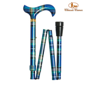 《英國 Classic Canes》可摺疊收納+調整高低手杖-4646N(粗款)
