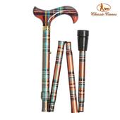 《英國 Classic Canes》可摺疊收納+調整高低手杖-4646H(粗款)