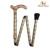 《英國 Classic Canes》可摺疊收納+調整高低手杖-4652E(細款)