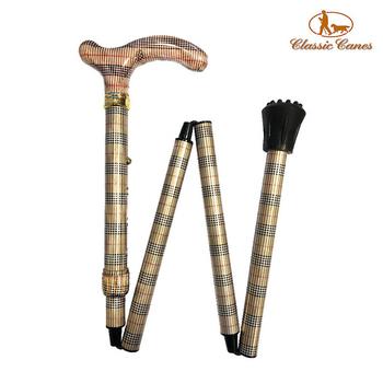 《英國 Classic Canes》可摺疊收納+調整高低手杖-4652E(細款)送:替換止滑橡膠頭×1個