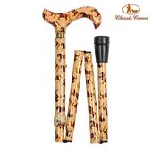 《英國 Classic Canes》可摺疊收納+調整高低手杖-4662C(粗款)