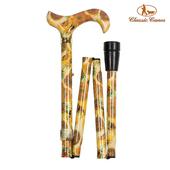 《英國 Classic Canes》可摺疊收納+調整高低手杖-4662A(粗款)