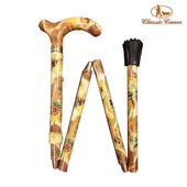 《英國 Classic Canes》可摺疊收納+調整高低手杖-4663A(細款)