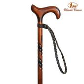 《英國 Classic Canes》手杖配件-手腕環扣繩-3215BNP-皮革編織