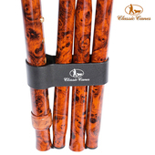 《英國 Classic Canes》摺疊手杖扣環-4833P-咖啡壓印Logo