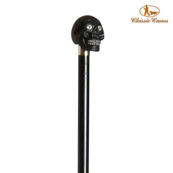 《英國 Classic Canes》造型權杖-黑骷髏頭鑲Swarovski水晶-1770