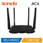 《Tenda》Tenda AC6 v2 AC1200 大功率雙頻無線路由器