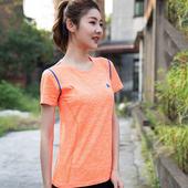 《KISSDIAMOND》輕薄透氣網眼速乾運動上衣-1527(橘色/S)