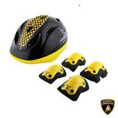 《Lamborghini藍寶堅尼》全台獨家 兒童運動護具(安全帽+四件組運動護具(手肘+膝蓋)) 兒童護具(兒童運動護具)