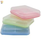 《月陽》超值3入大號透明蓋雙格肥皂盒帶瀝水肥皂盤皂架