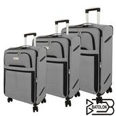 《BATOLON寶龍》20+24+28吋 皇家風範TSA鎖加大商務箱/行李箱 (3色任選)(灰)