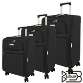 《BATOLON寶龍》20+24+28吋 皇家風範TSA鎖加大商務箱/行李箱 (3色任選)(黑)