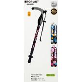《海夫健康生活館》宜山 登山杖手杖 4段式伸縮/鋁合金/台灣製造/Pop-art(AW4I021)(BL色)