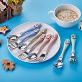 《304不鏽鋼》兒童勺叉組-附收納盒