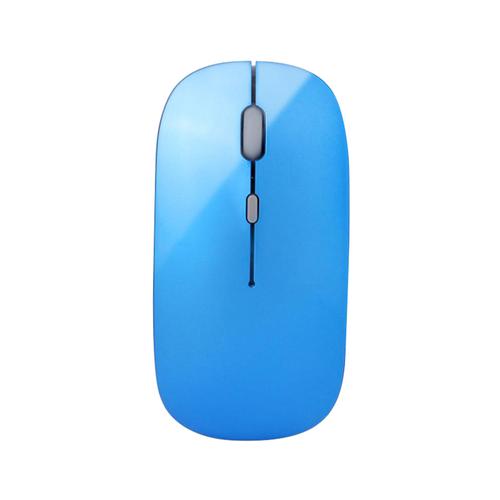 《宏晉 Hong Jin》HJ115 可充電超靜音無線滑鼠(藍色)
