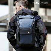 《TANGCOOL 唐酷》防潑水潮流雙肩後背包 50x15x29cm(藍色)