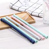 《環保》便攜式可折疊矽膠吸管 附收納盒+清潔刷 顏色隨機20*1.1cm $79