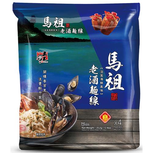 《五木》馬祖老酒麵線  淡菜海鮮(88gx4入/包)