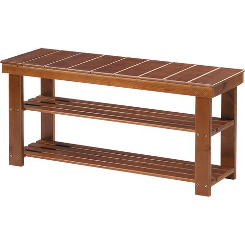 《台灣製》實木穿鞋椅(90X30X43cm)