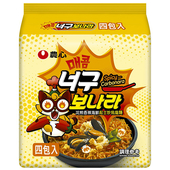 《農心》浣熊香辣海鮮起士炒烏龍麵(536g)