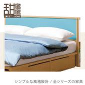 《甜蜜蜜》藍白配5尺床頭箱