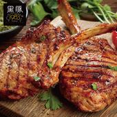 《欣明生鮮》台灣神農1983極品黑豚【19盎司】霸氣戰斧豬~大(550公克±10% /1片)(*16包)