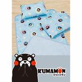 【17mall】熊本熊三件式兒童睡墊 涼被 童枕 睡袋(藍色)