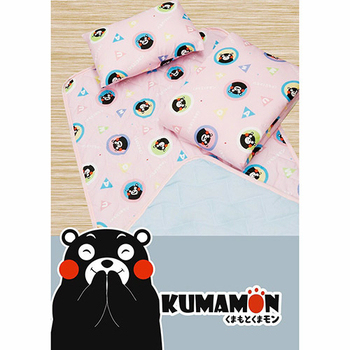 【17mall】熊本熊三件式兒童睡墊 涼被 童枕 睡袋(粉色)