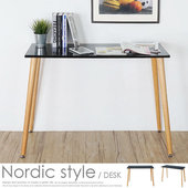 《Homelike》莉絲北歐風工作桌(星耀黑)