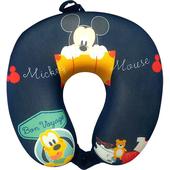 《迪士尼正版授權》記憶棉頸枕-28X28X8cm(米奇布魯托旅行趣)