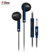 《iSee》iSee 智慧型手機專用通話及音樂耳麥(IS-MHS766)(籃)
