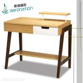 《aaronation 愛倫國度》aaronation 愛倫國度 - 三尺 輕井澤日式實木書桌U2-DK950-P(書桌)