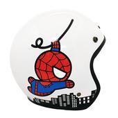 蜘蛛人3/4罩復古帽 安全帽(S-白色)